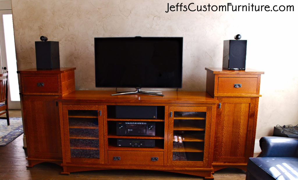 mission craftsmen entertainment center