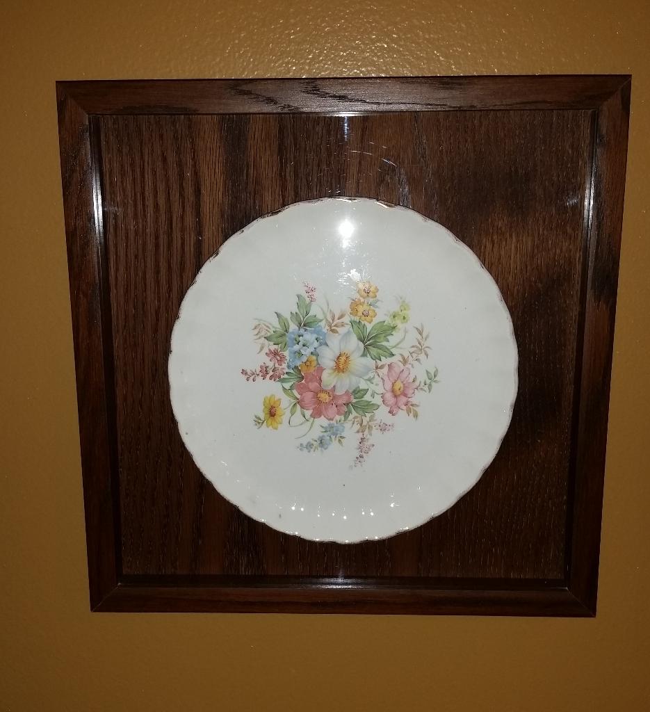 Framed Antique Plate
